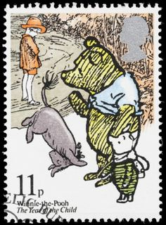 Of heffalumps and hunny: the language of Winnie-the-Pooh. (Postage Stamp)