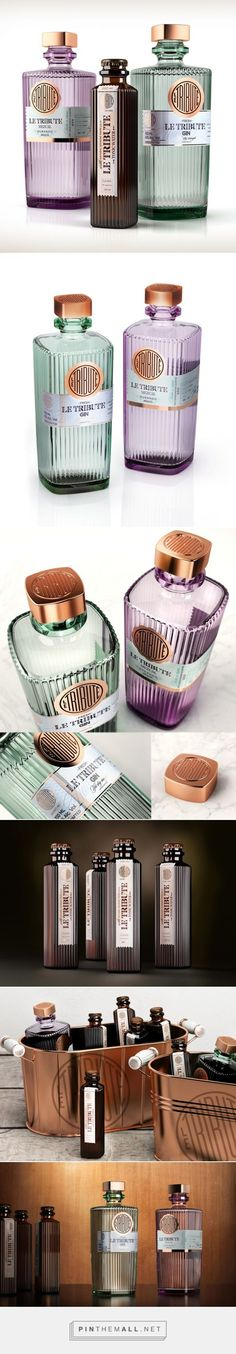 LE TRIBUTE - ‎Gin, ‎Mezcal, ‎Tonic water ‎packaging ‎design by SeriesNemo (Spain) avantgarde ‎contemporary PD