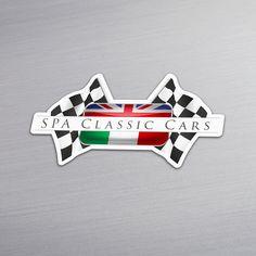 Sticker uitgesneden in contour voor SPA Classic Cars