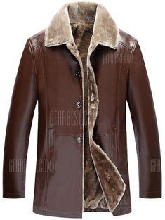 41c31ccf8ea7 High-grade PU Leather Clothing Fashion Anti-Cold Warm Fur One Lapel Zipper
