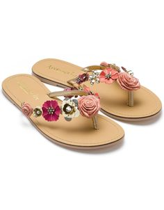Stunning sandals with beautiful floral detailing, perfect for any special occasion.
