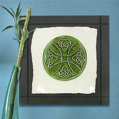 Celtic Cross Ceramic Wall Art Tile