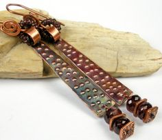 Copper Cuff Bracelet A Rustic Hammered and Forged by FebraRose