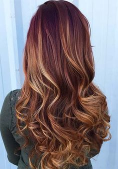 100 Badass Red Hair Colors: Auburn, Cherry, Copper, Burgundy Hair Shades - New Medium Hairstyles Hair Color Auburn, Hair Color Highlights, Red Hair Color, Blonde Color, Cool Hair Color, Red Color, Auburn Colors, Hair Color For Morena, Auburn Highlights