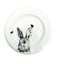 Jessica Lennox Cheeky Hare and Butterfly Side Plate