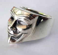 925 Sterling Silver V For Vendetta ring All by Siamhandmade2014