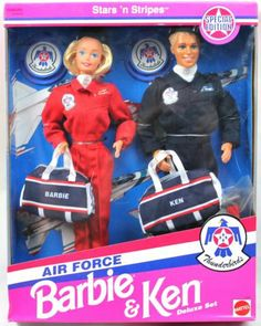 Barbie Air Force Barbie & Ken Stars N Stripes Special Edition Thunderbirds 93