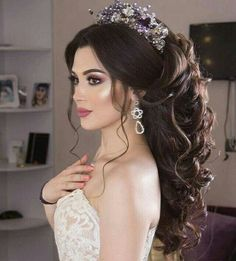 63 Gorgeous Wedding Hairstyles for Long Hair Hairdo Wedding, Wedding Hairstyles For Long Hair, Wedding Hair And Makeup, Bride Hairstyles, Hair Makeup, Top Hairstyles, Simple Hairstyles, Wedding Low Buns, Bridal Hair And Makeup