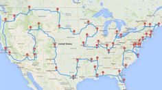 The perfect road trip across the US would take you to all the must-see landmarks and historical sites and minimize unnecessary driving, but figuring out the ideal path isn't easy. CS graduate research assistant and data tinkerer Randal Olson created an algorithm to solve this problem and come up with the epic road trip.