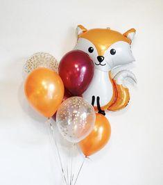 Woodland Fox, Woodland Balloons, Woodland Baby Shower, Woodland Birthday Party, Woodland Animal Part Party Animals, Animal Party, Fox Party, Deco Orange, Deco Baby Shower, Boy Decor, Woodland Baby, Boy Birthday Parties, Diy Birthday