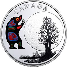 RCM New Release: 2018 Pure Silver Coloured Coin Thirteen Teachings From Grandmother Moon: Bear Moon - Coin Community Forum