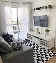 Living Room Designs, Living Room Decor, Small Sitting Rooms, Love Home, Beautiful Bedrooms, Interiores Design, Home Fashion, Apartment Living, Small Spaces