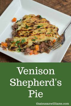 Venison Shepherd's Pie: delicious easy and made in a cast iron skillet. Venison Shepherd's Pie: delicious easy and made in a cast iron skillet. Venison Casserole, Casserole Recipes, Pasta Recipes, Soup Recipes, Vegetarian Recipes, Cooking Recipes, Healthy Recipes, Game Recipes, Recipes Dinner