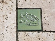 Motiv Pflasterstein Schnecke in himmelblau, absolut frostfest - Gärten für Auge & Seele