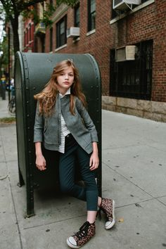 Elizabeth Pettey Photography for Babiekins Magazine Digital Content // Cassidy (Future Faces NYC) wearing Noch Mini AW14 in West Village