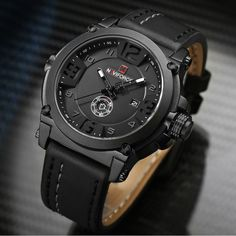 Cheap NAVIFORCE Top Luxury Brand Men Sports Military Quartz Watch Man Analog Date Clock Leather Strap Wristwatch. Click visit to check price. Click visi to buy Top Luxury Brands, Swiss Army Watches, Vintage Watches For Men, Rolex Datejust, Audemars Piguet, Sport Watches, Smartwatch, Luxury Watches, Fashion Watches