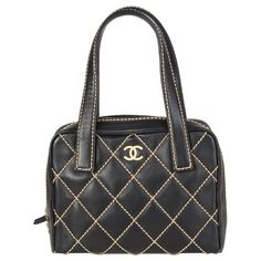 dade81d68799 Chanel Top Handle Bag - Leather & Beige Quilt Stitching Small Bag Leather