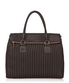 Black leather woven grab bag Sale - EDMOND LOUIS Sale