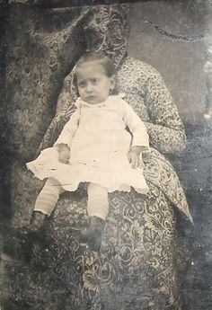 Unusual Creepy Hidden Mother Ghostlike Tintype | eBay