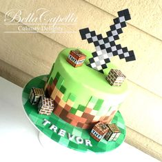 Minecraft Cake on Cake Central Minecraft Torte, Minecraft Pasta, Minecraft Birthday Cake, Pastel Minecraft, Roblox Cake, Cakes For Boys, No Bake Cake, Boy Birthday, Cupcake Cakes