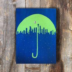 Pass The Peace Seattle Skyline Seattle Seahawks by ArtJunkieDoodle