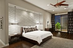 cathedral ceiling accent wall ideas | Bedroom Accent Wall In 3D for Current Trends Wall Art Design