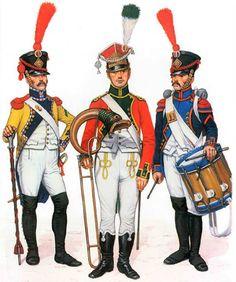 "FRANCE - ""Napoleon Line Infantry""  • Caporal-tambour, 67e de Ligne, 1808  • Musician, 9e de Ligne, 1809  • Grenadier-tambour, 57e de Ligne, 1809"