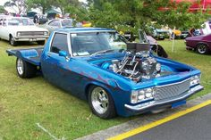 Might be a little hard to see but it's still a Wow! ◆ ~ Aussie Custom Cars & Bikes ~ Wild Blown HX Holden One Tonner Australian Muscle Cars, Aussie Muscle Cars, Holden Kingswood, Holden Monaro, Holden Australia, Wooden Truck, Old Pickup Trucks, Sweet Cars, Car Humor