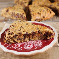 Baked Sunday Mornings Oatmeal Peanut Butter Chocolate Chip Scones / Patty Price / Patty's Food