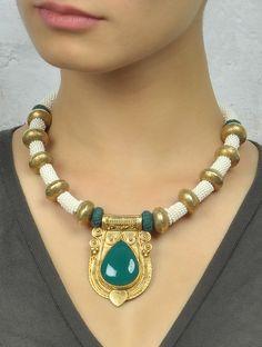 Green Onyx Ethno Necklace