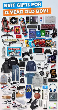 """Browse our Teen Boy Birthday Gift Guide featuring best gifts for teen boys. Discover COOL and unique gifts for Birthdays for your 13 year old teen boy."""" Make his Birthday extra magical with these slam-dunk picks! Cool Gifts For Teens, Gifts For Teen Boys, Christmas Gifts For Boys, Christmas Presents, Christmas Gift Ideas For Teens, Stocking Stuffers For Teenagers, Valentine Gifts For Boys, Christmas Games, Diy Christmas"""