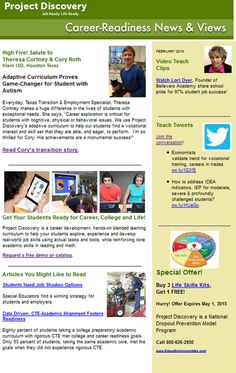 Career education newsletter