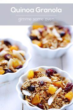 "Quinoa Granola Recipe - from ""50 of the BEST Quinoa Breakfast Recipes"""