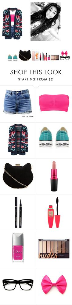 """-Krissy"" by krissyk-15 on Polyvore featuring Charlotte Russe, H&M, Converse, New Look, MAC Cosmetics, Maybelline, Christian Dior and ZeroUV"