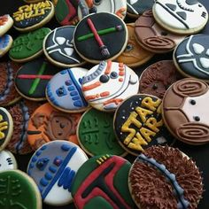 A very fun Star wars theme party, sugar cookies.. CookiesbyLaBy