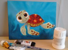 Hey, I found this really awesome Etsy listing at https://www.etsy.com/listing/256246471/squirt-finding-nemo-disney-pixar