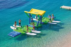 This is one of the most funideas we've seen in a while. It's like a floating bouncy castle food truck for SUP boards rentals, vacation and recreational spots. TheWibit SUP Docking Station is great for…