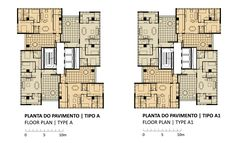 Image 18 of 25 from gallery of Building & Isay Weinfeld. Plantas Tipo A Building Layout, Building Plans, Building Design, Building A House, Interior Architecture Drawing, Architecture Plan, Residential Architecture, Craftsman Floor Plans, Apartment Floor Plans