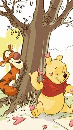 Tigger And Pooh, Cute Winnie The Pooh, Winne The Pooh, Winnie The Pooh Friends, Pooh Bear, Disney Posters, Disney Cartoons, Cute Little Drawings, Cute Drawings