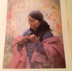 """HOWARD TERPNING - """"Cree Finery""""  (This picture will be included in the traveling museum exhibit, """"A Feeling of Humanity,"""" 2014-17.)  Collection of Ken Ratner.  Loaned in loving memory of his brother, Robert Ratner."""