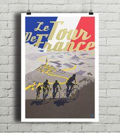 Plakat z autorską grafiką grafiką inspirowaną jednym z największych wyścigów kolarskich świata Tour de France. Rozmiar 21 x 29,7 cm (format A4).    Drukowany za pomocą ekologicznych, bezwonnych tuszy pigmentowych EPSON Ultra K3 Ink. Wydrukowany na papierze  fotograficznym Tecco Matt dający...