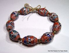 Hand Made Paper Bead Bracelet Strands ♡ by PassionForPaperBeads