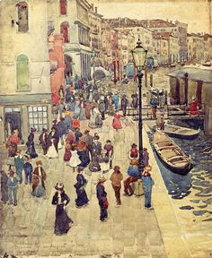 Maurice Prendergast (American 1858–1924) [Post-Impressionism, The Eight] Venice, 1898.