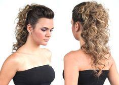 penteado cabelo cacheado com topete