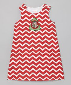 Take a look at this Red Zigzag Tree Monogram Jumper - Infant, Toddler & Girls by Lollypop Kids Clothing on #zulily today!