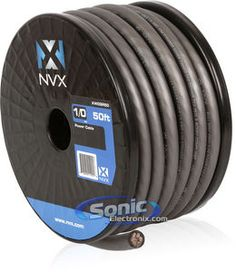 alpine spx 17pro car audio nvx 50 ft of gray envyflex power ground wire cable