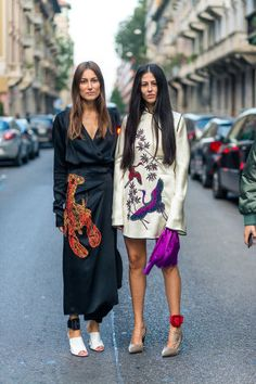 Over 60+ chic fall outfit ideas to take from the street style scene at Milan Fashion Week: