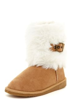 Faux Fur Buckle Boot (Toddler, Little Kid,