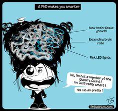 PhD cartoon from Phdelirium/ PhD makes you smaeter !!