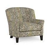 """Nice looking fabric in soft tones - view the close-up - slight english arm - Charlene Fabric Accent Chair,  34""""W X 36""""D X 33""""H - $599"""